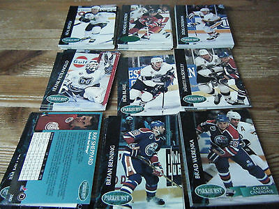 87   Parkhurst 1992 - 1993    American  Ice Hockey  Cards  Mint  All Listed