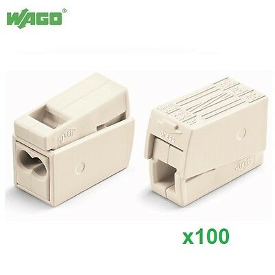 100x Wago 224112 24A 3 Way Lighting Connector Cage Clamp 0.5-2.5mm² 224-112 Wago