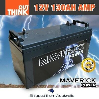 12V 130Ah Amp Deep Cycle Battery 4Wd Solar Volts Charge