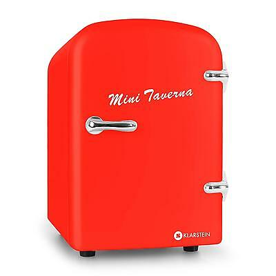 Klarstein Taverna Mini Travel Cooler Cool Warm Box 12V Table Top 4 Litre - Red