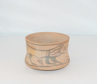 Indus Valley cup with a lion and antelope. Dating 2800 - 1800 BC.