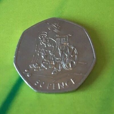 Boccia LONDON 2012 OLYMPIC GAMES FIFTY 50P PENCE COIN DATED 2011
