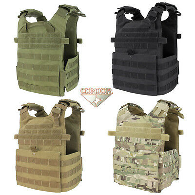 Condor 201039 Tactical Molle Gunner Lightweight Vest Plate Carrier  All Colors