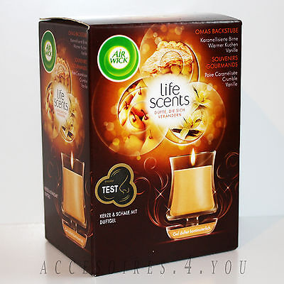 "2 x AIR WICK Life Scents Duftkerze ""OMAS BACKSTUBE"" Duftgel Weihnachtsduft OVP"