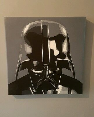 Darth Vader Star Wars Painting On Canvas - 100% Hand Painted Art