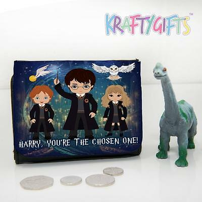 Personalised Harry Potter Boys Childrens Lunch Wallet Money Gift ET07