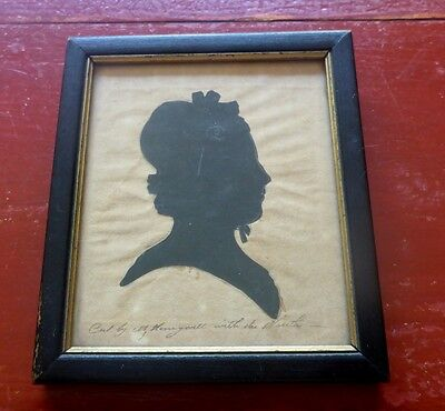 Antique Silhouette Martha Honeywell Cut with Mouth RARE Type from Virginia