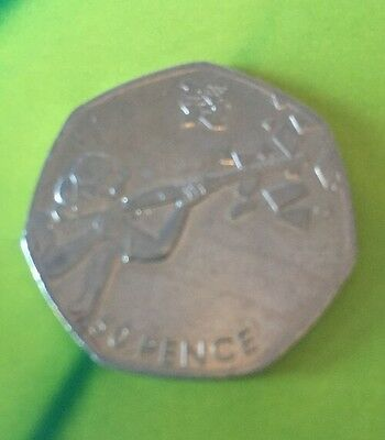 Shooting LONDON 2012 OLYMPIC GAMES FIFTY 50P PENCE COIN DATED 2011
