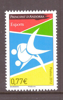 Andorra French  2012 Sport,Art mint  stamp