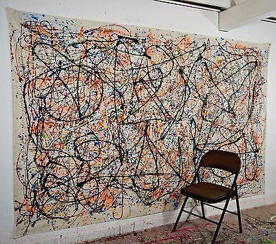 LARGE Abstract Painting Modern Wall Art Stunning Contemporary Oil on Canvas