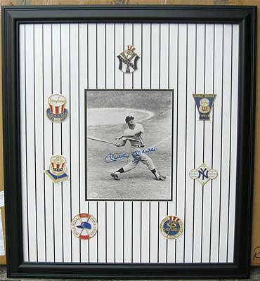 "SIGNED Yankee Mickey Mantle #7 Framed 32"" x 35"" Photo is 11"" x 14"" JSA COA"