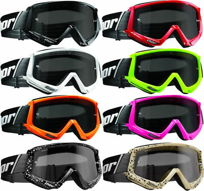New Thor Combat Sand Anti-Fog Smoke Lens MX SX Race Motocross Riding Goggles