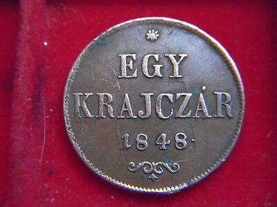 Rare 1848 One Kr From Hungary From My Collection [E37]