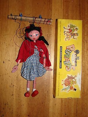 Vintage Pelham Puppet Little Red Riding Hood in Box
