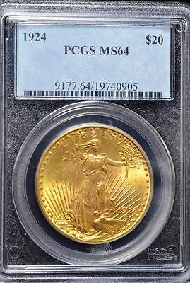 1924 $20 Saint-Gaudens Double Eagle - PCGS  MS64 Gold