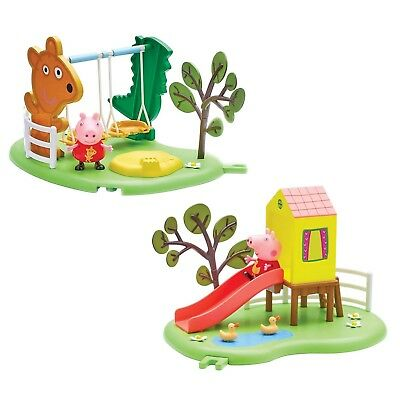 Peppa Pig Outdoor Fun Playground Slide, See-Saw or Swing Link Together Toy NEW