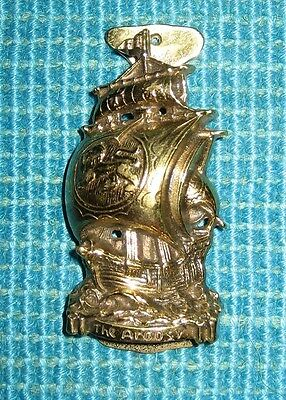 Vintage Ship Door Knocker Sails Lion Emblem ARGOSY Solid Brass Heavy