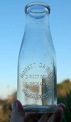 lovely early 1930's Dorset Dairy Bournemouth : dairy milk bottle