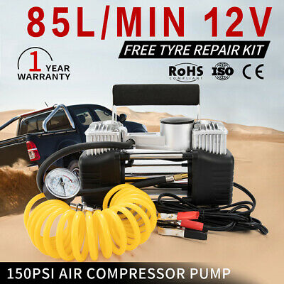12V 150PSI Electric Air Compressor Portable Offroad 4x4WD Tyre Deflator Inflator