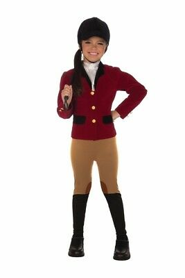 Equestrian Horse Jockey Rider Girl's Child Costume Includes Hat