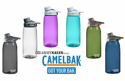 Camelbak CHUTE 1L Leak Proof Sports Water/Drinking/Hydration Bottle All Colours
