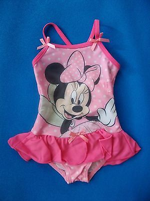Minnie Mouse Pink Baby Girls Swimming Bathing Beach Pool Costume 6-24 Months