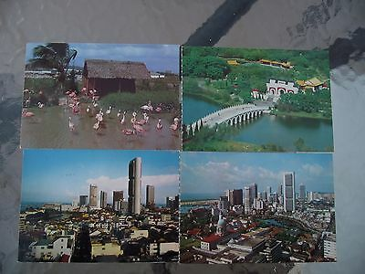 4 x Singapore Postcards From 1982
