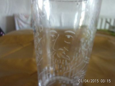 Hand Etched Tumbler.