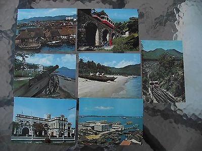 7 x Penang Postcards from 1982