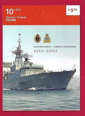 Canada   Booklet  #428    # 2384   2010    Canadian Navy    Post Office Fresh