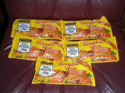5 Bags Nestle Toll House Pumpkin Spice Baking Morsels Cinnamon Chocolate Chips