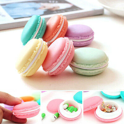 6x Earphone SD Card Macarons Bag Storage Box Case Carrying Pouch Etuis housses
