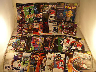 XBOX Manual Lot Of 38 Original XBOX Instruction Booklets Guides