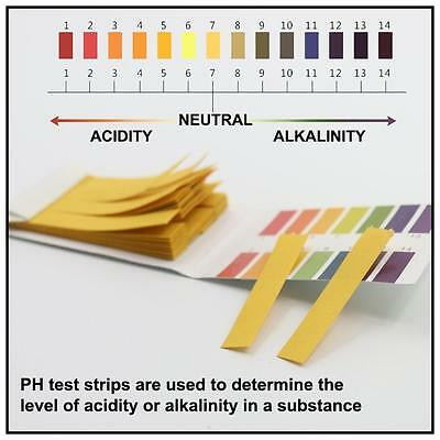 Test 240 Strips Full Range 1-14 PH Testing Paper Acid Water Litmus Alkaline