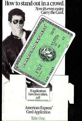 LOU REED Standup Display for American Express 1988 Original