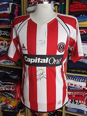 SIGNED Shirt Sheffield United 2007/08 (S) Home Le Coq Sportif Jersey