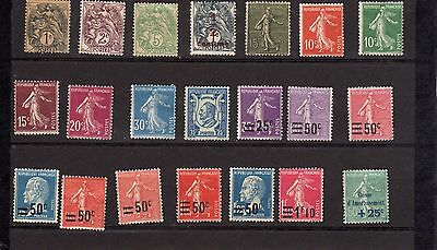 22   timbres   france   neufs    avec    charnieres   beau   lot