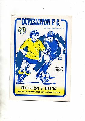 DUMBARTON v HEART OF MIDLOTHIAN  1981/2