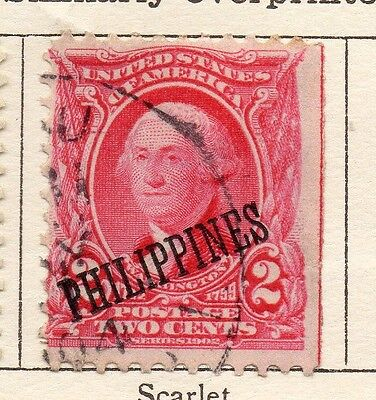 Philippine Islands 1899 Early Issue Fine Used 2c. Optd 123794