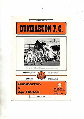 DUMBARTON v AYR UNITED 1980/1