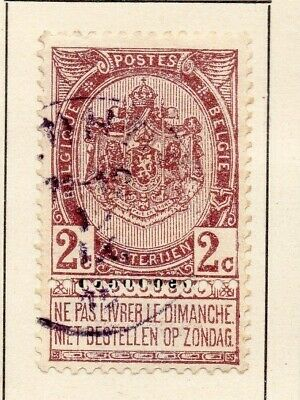 Belgium 1907-08 Early Issue Fine Used 2c. 124034