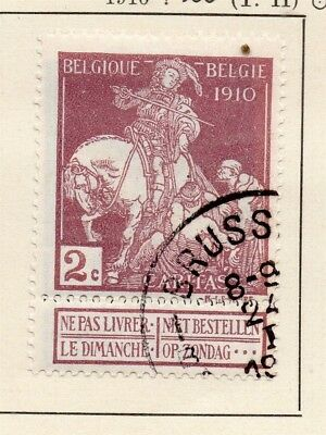 Belgium 1910 Early Issue Fine Used 2c. 124046