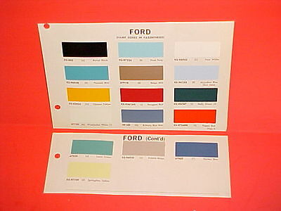 1967 Ford Pickup Truck F-100 250 350 Bronco Econoline Club Wagon Van Paint Chips