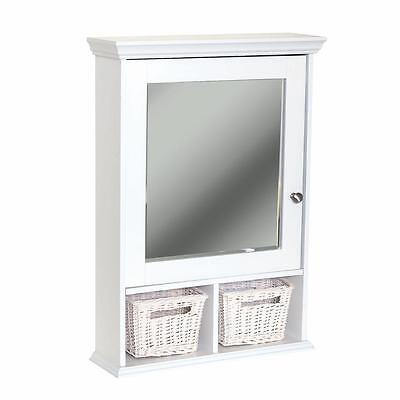 Glacier Bay 21 x 29 Wood Surface Mount Medicine Cabinet in White with Mirror