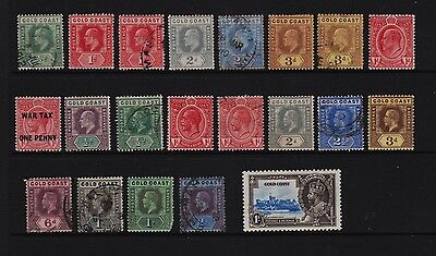 Gold Coast - 21 old stamps, cat. $ 94.40