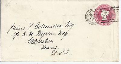 GB Stationery:QV 3d sto Envelope used Glasgow to USA