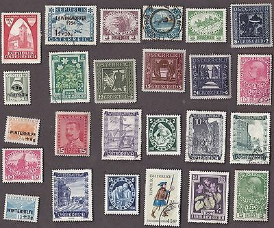 25 All Different Austria Semi-Postals Stamps