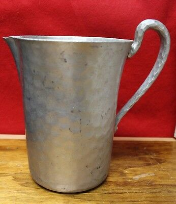 Vintage Hand Forged Everlast Metal Hammered Aluminum Water Pitcher