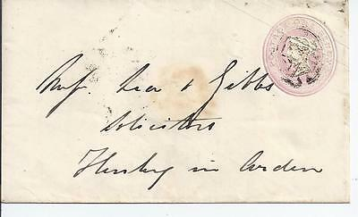 GB Stationery: QV penny pink envelope used
