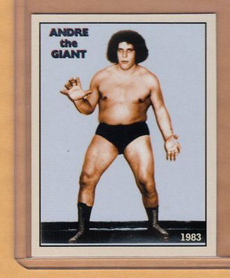 Andre the Giant 1983 Heavyweight Wrestling Champion cab card very rare NM-MINT